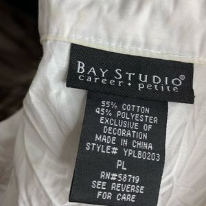 Bay Studio Tops - Bay Studio Career Petite Eyelet Button-down Blouse